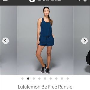 Lululemon be free runsie romper, size 10